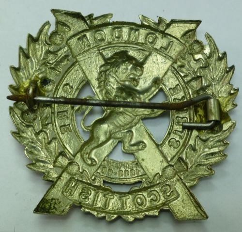 Original WW1 WW2 London Scottish Cap Badge Brooch