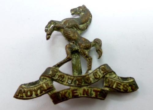 WW1 WW2 Royal West Kent Officers Cap Badge