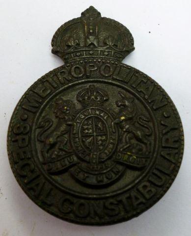 WW1 WW2 Metropolitan Police Special Constable Badge