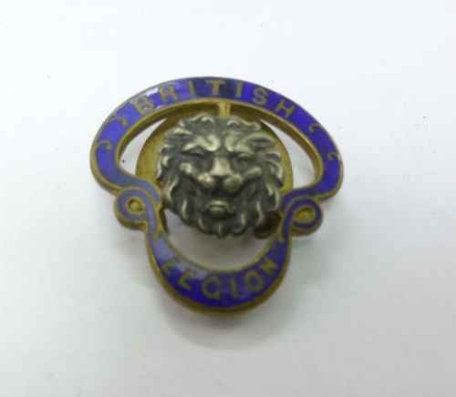 Early Large British Legion Lapel Badge JR Gaunt