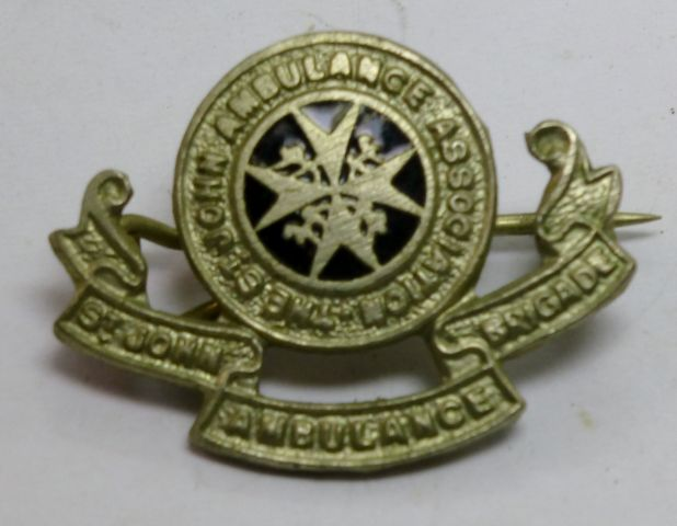 Vintage St John Ambulance Brigade Pin Badge