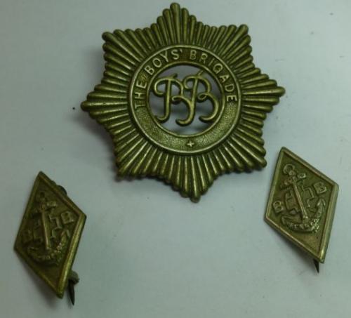 A set of 3 Vintage boys brigade Badges