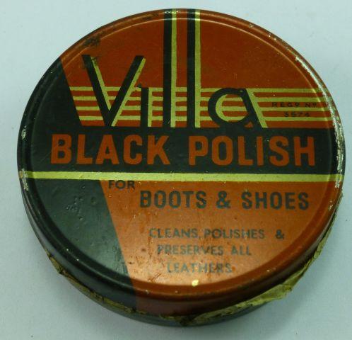 Original WW2 Villa Black Boot & Shoe Polish