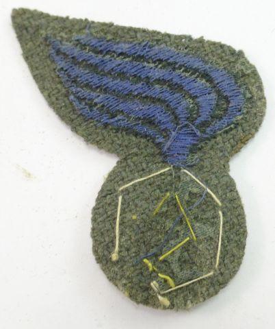 3 Original WW2 Italian Chemical Service Cloth Cap Badge