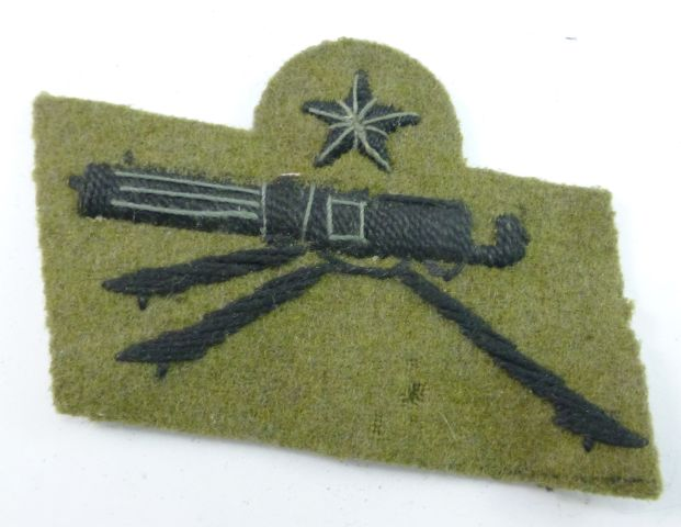 33 WW2 Italian Expert Machine Gunners Cloth Badge