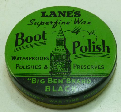 WW2 British Wartime Economy Black Shoe Polish