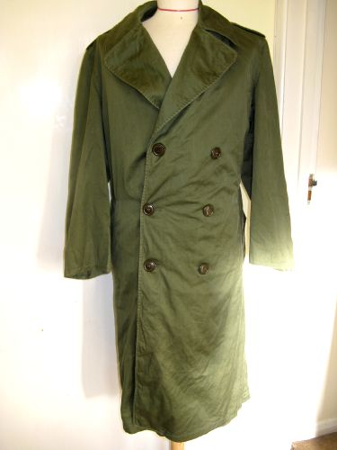 US Army Korean War Issue OG Field Overcoat