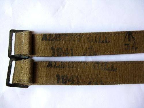 WW2 British Army & Home Guard Rubberised Economy Utility Straps