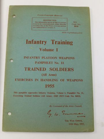 Infantry Training  Pamphlet Vol 1 No 11 Trained Soldiers