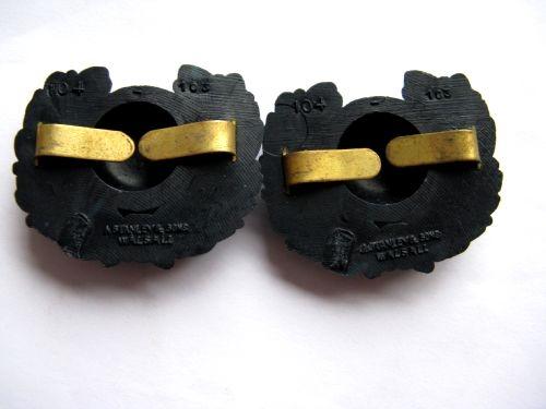Original WW2 Royal Marines Economy Bakelite Collar Dogs