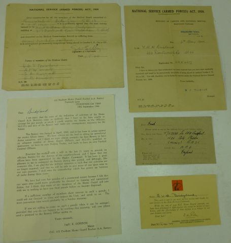 5 Items Relating to F.W.H.Bridgland Home Guard