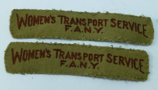 Original Woman's Transport Service FANY insignia.