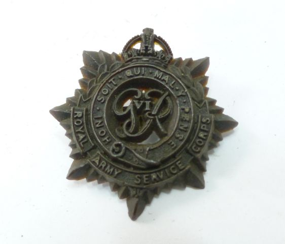 Excellent Original RASC Cap Badge in Bakelite