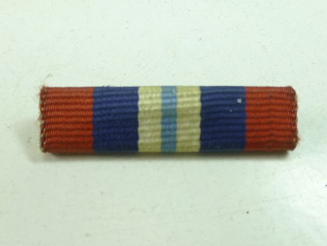 Un-identified WW2 Full Size Pin on Medal Ribbon