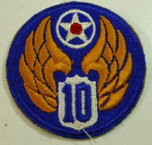 23 Original WW2 USAAF 10th Air Force Cloth Badge