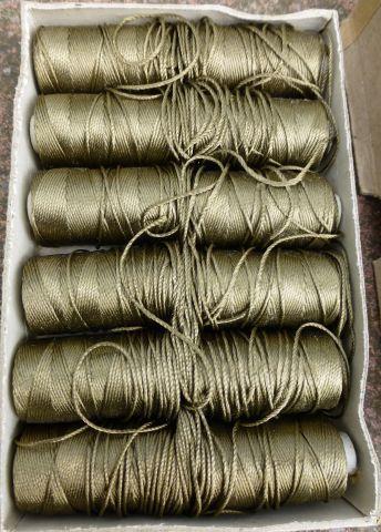 12 cops of WW2 Era Strong Rayon Twist Thread