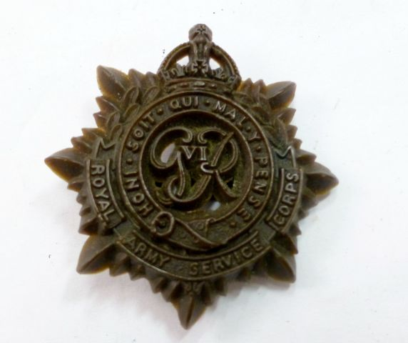 Royal Army Service Corps Bakelite Cap Badge