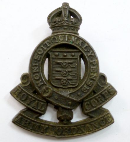 Royal Army Ordnance Corps Plastic Cap Badge