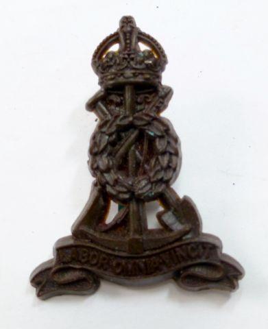 WW2 Plastic Economy Pioneer Corps Cap Badge