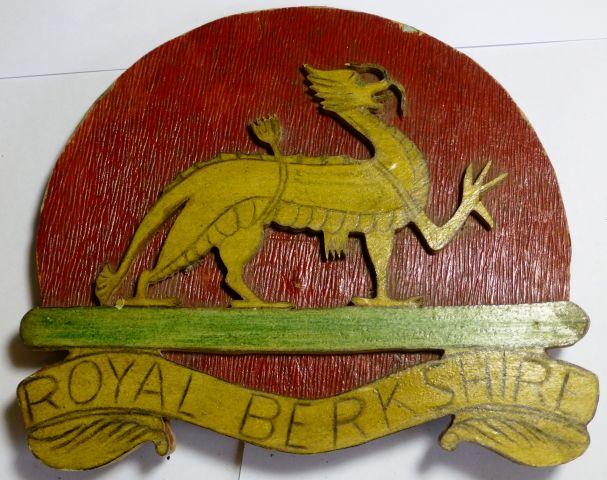 WW1 WW2 Wooden Royal Berkshire Badge