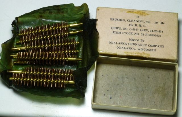 10 X WW2 US Army 50 Cal Cleaning Brushes