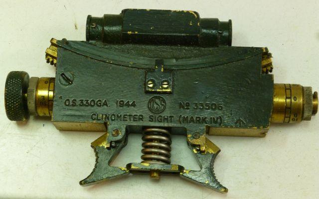 WW2 British Clinometer Sight MK IV O&SS 1944