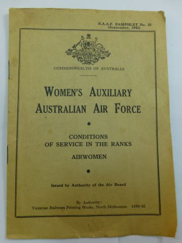 Women's Auxiliary Australian Air Force 1942