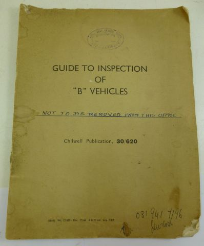 1943 Guide to Inspection B Vehicles