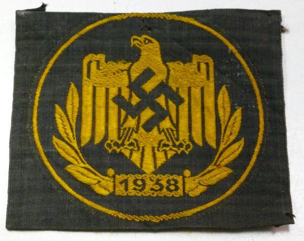 WW2 German Cloth Bronze Sports Badge 1938