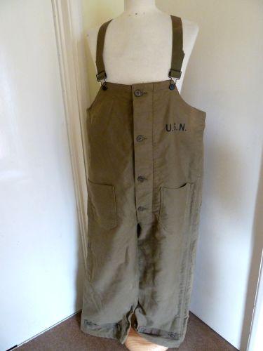 WW2 & Korea Era USN & US Army Issue Winter Bib & Brace Trousers