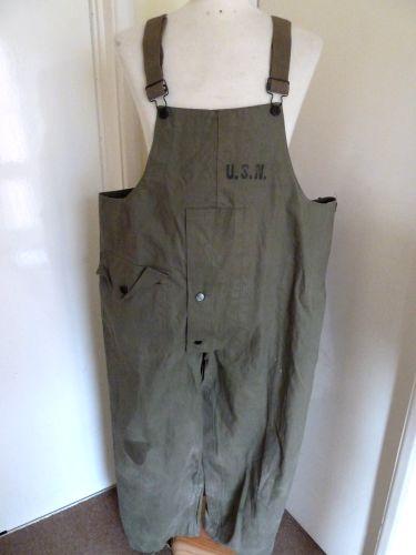 WW2 US Navy Issue Waterproof Bib & Brace Trousers