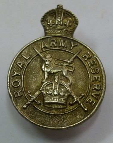 52 Sterling Silver Royal Army Reserve Lapel Badge