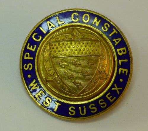 WW1 WW2 West Sussex Special Constable Enamel Badge