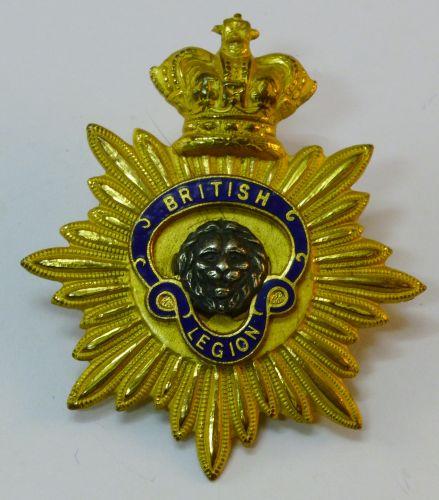 Vintage British Legion Cap Badge with QV Crown