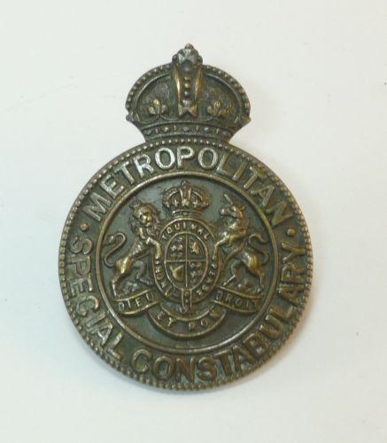 WW1 Metropolitan Special Constabulary Cap Badge