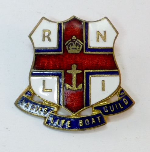 Kings Crown RNLI Ladies Life Boat Guild Enamel Badge