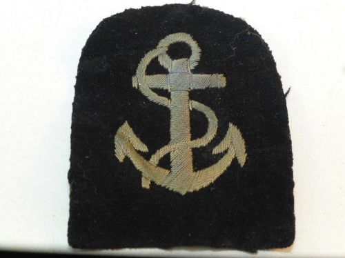 WW1 ? WRNS Leading Wren Rank Badge Blue Anchor