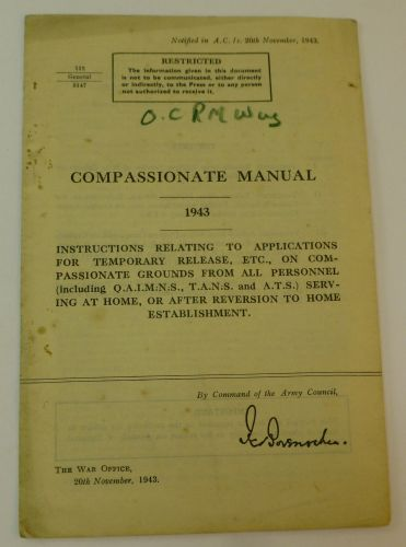 1943 British Army Compassionate Manual