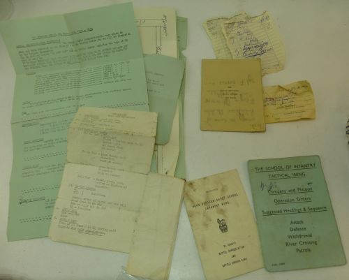 Group of late 1950s – 1960s paperwork, booklets etc
