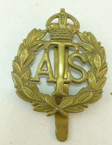 Original WW2 Auxiliary Territorial Service Cap Badge