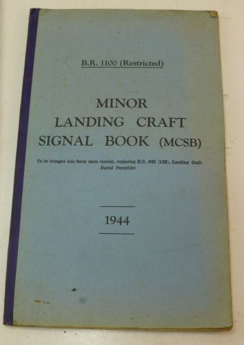 WW2 Pamphlet Minor Landing Craft Signal Book 1944