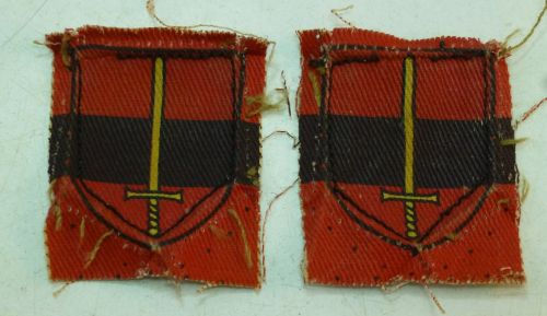 5 Pre WW2 Post WW2? Territorial Army Troops Printed Insignia