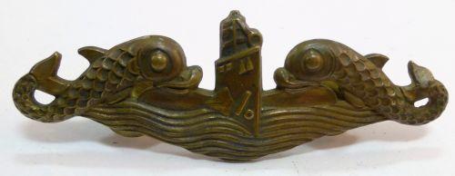 WW2-Post War USN Deep Wave Pacific Submarine Badge