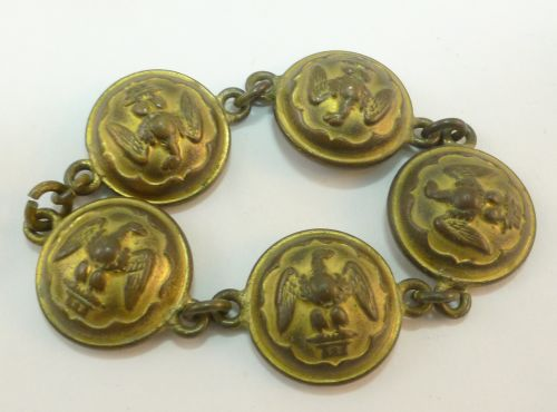 Early Royal Scots Greys Buttons Made Into Bracelet