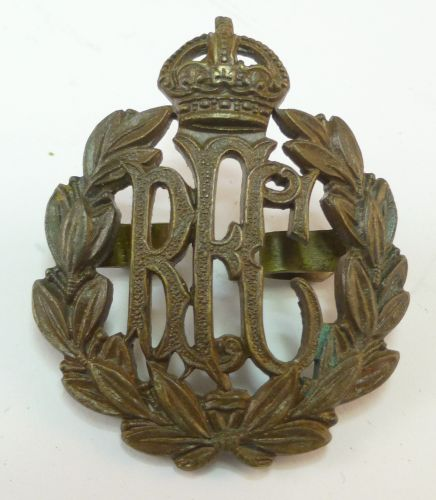 WW1 Royal Flying Corps Officers Bronze Cap Badge