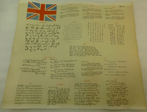 Original WW2? RAF Heavy Duty Paper Blood Chit