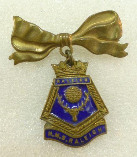 20 WW2 Royal Navy Sweetheart Brooch HMS Raleigh