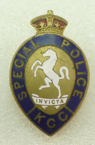 26 WW1 WW2 Kent Special Police Lapel Badge