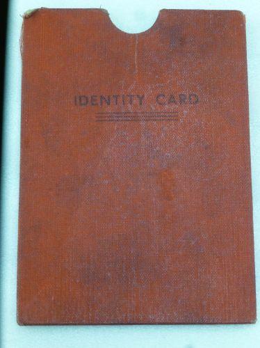 32 WW2 British Civilian Identity Card Wallet