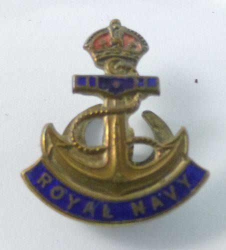 8 WW1 WW2 Royal Navy Enamelled lapel Badge